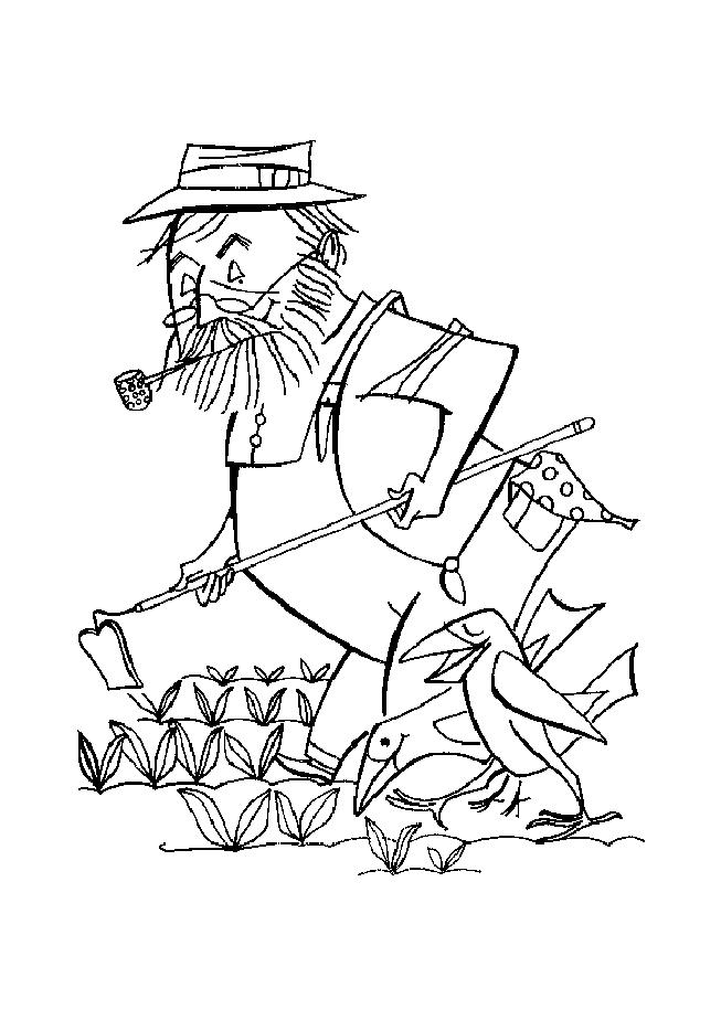 Farmer coloring pages to download and print for free