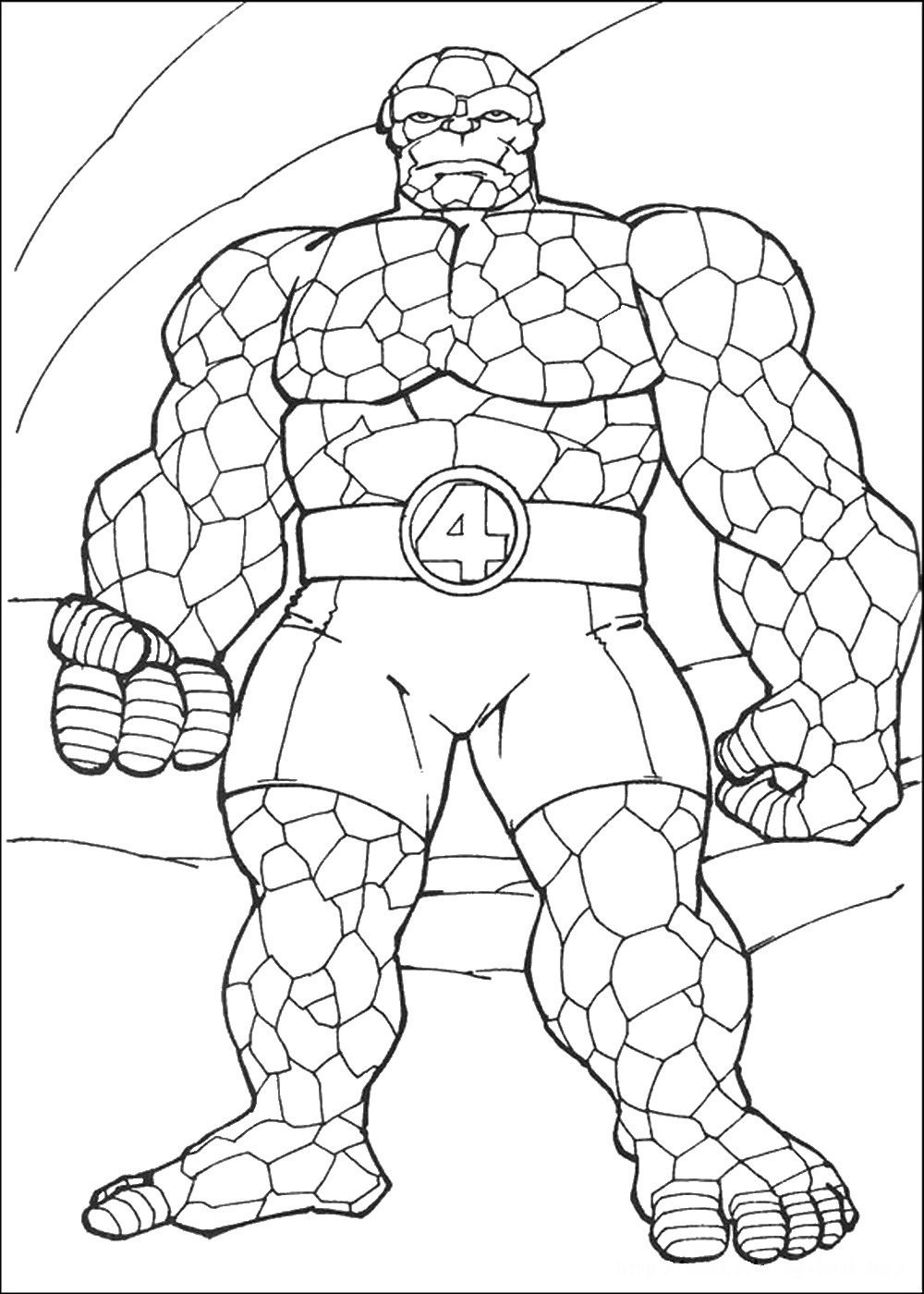 Fantastic four coloring pages to