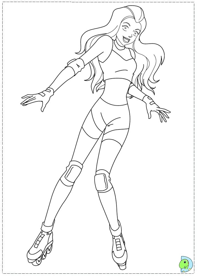 coloring pages totally spies - photo#23