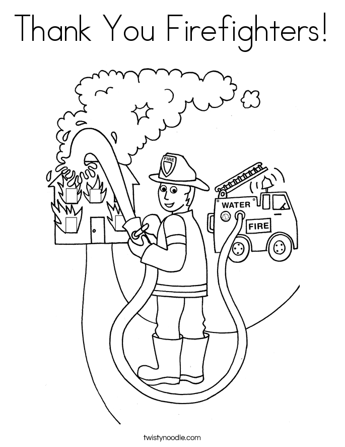 firefighter coloring pages preschool alphabet - photo#24