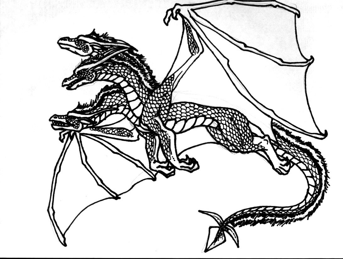Dragon coloring pages to download and print for free
