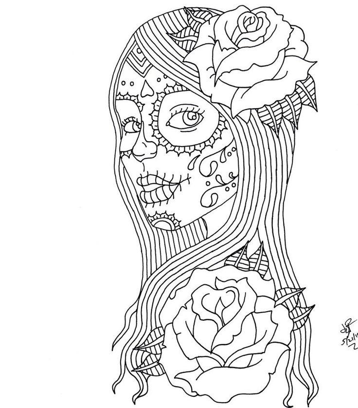 dia de los muertos coloring pages - Coloring Pages Girls