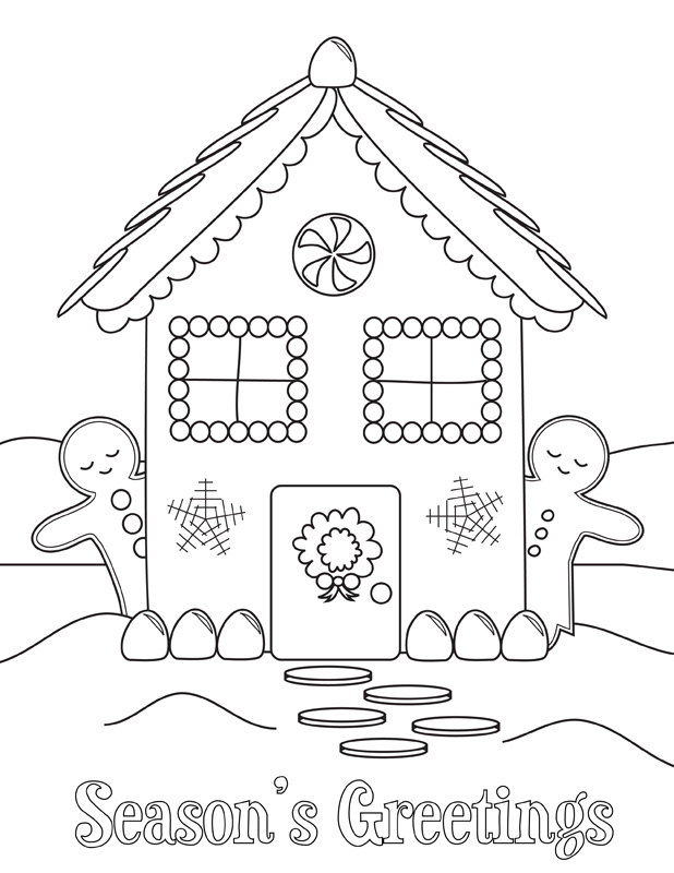 christmas english coloring pages - photo#24