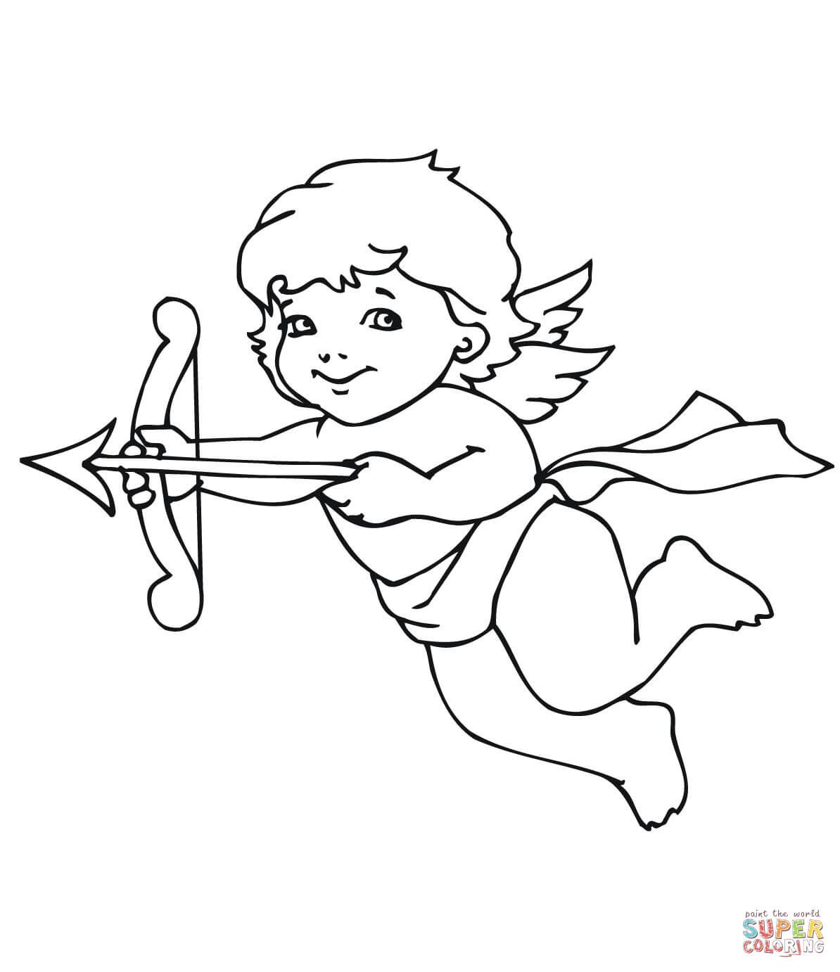 coloring pages cupid - photo#4