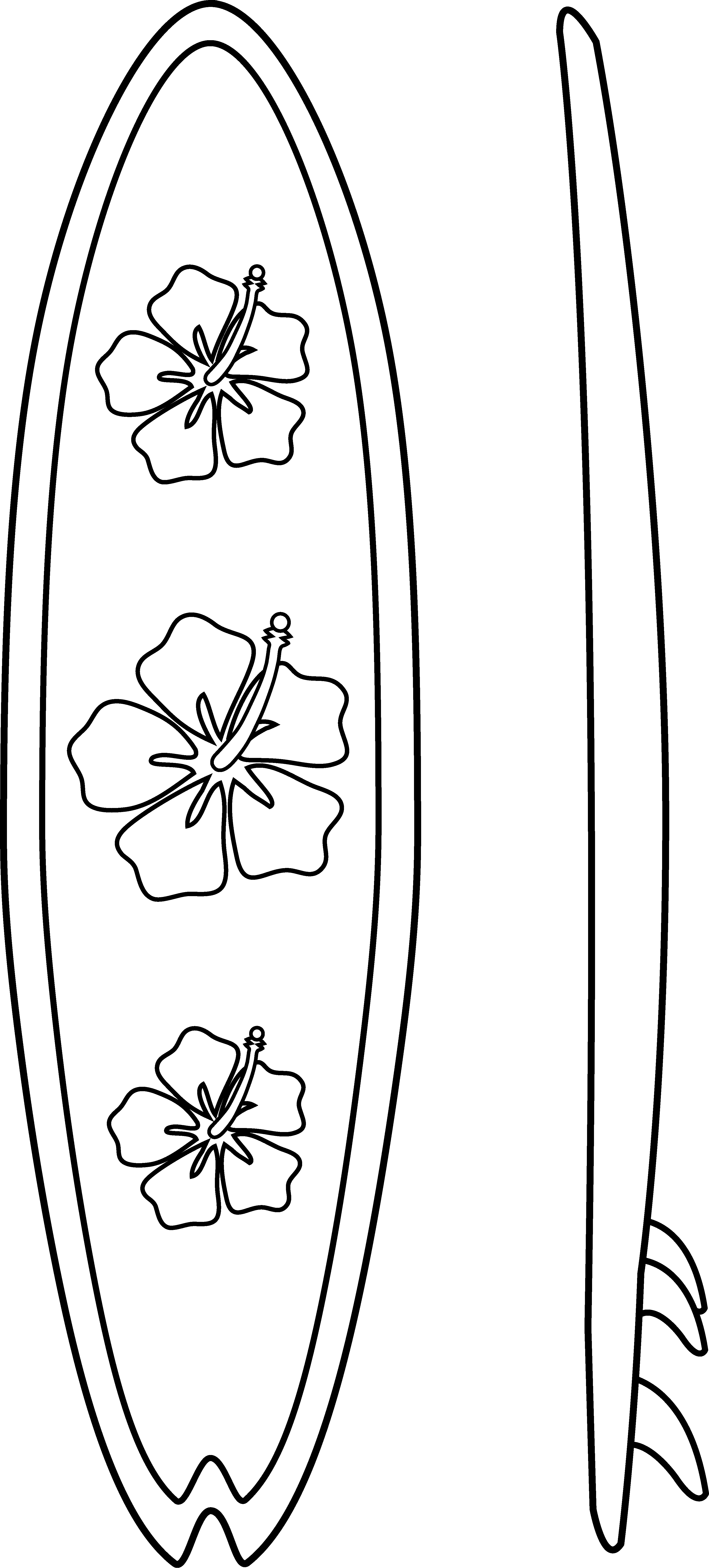 This is a picture of Invaluable Surfing Coloring Pages