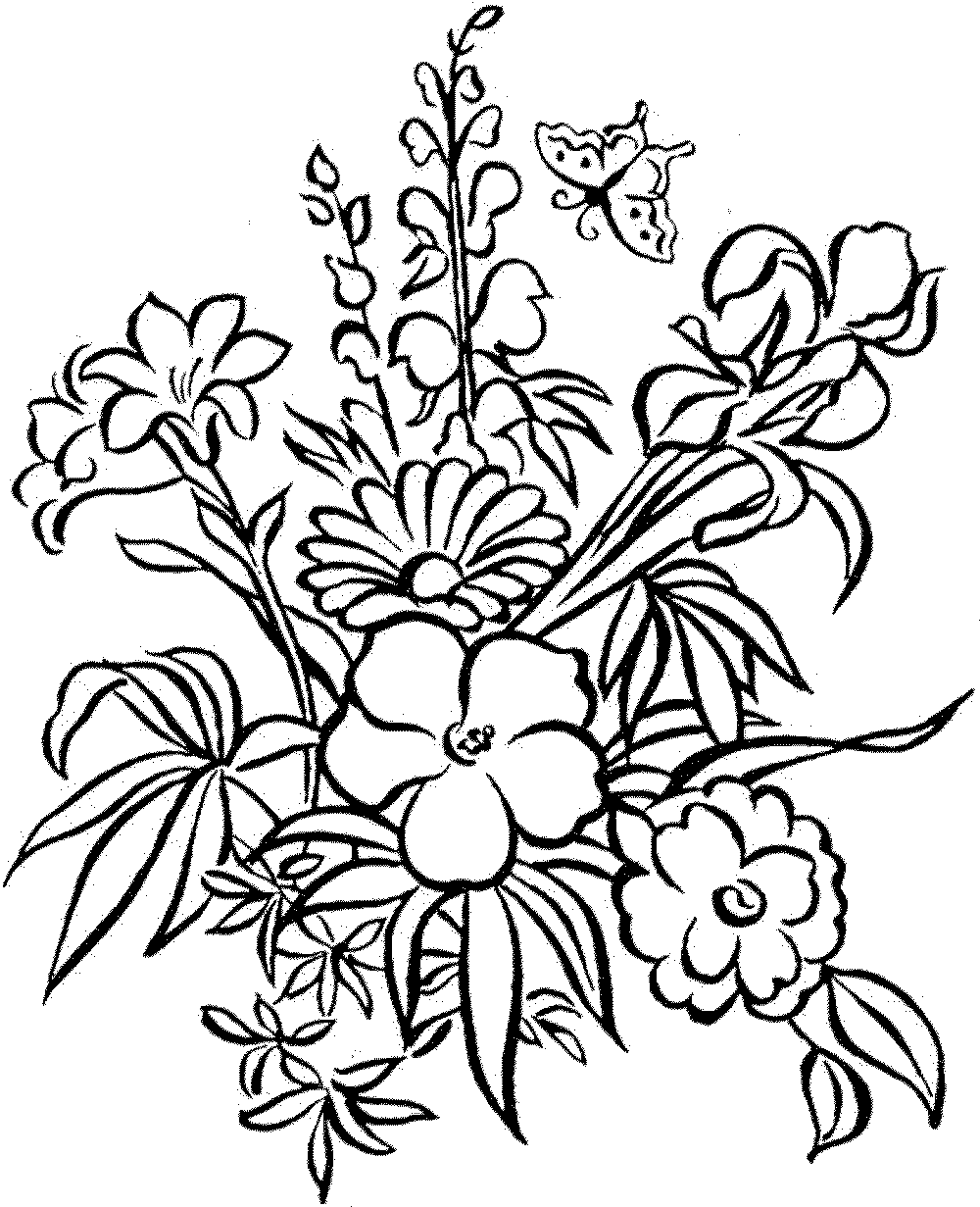 detailed flower coloring pages to download and print for free. Black Bedroom Furniture Sets. Home Design Ideas