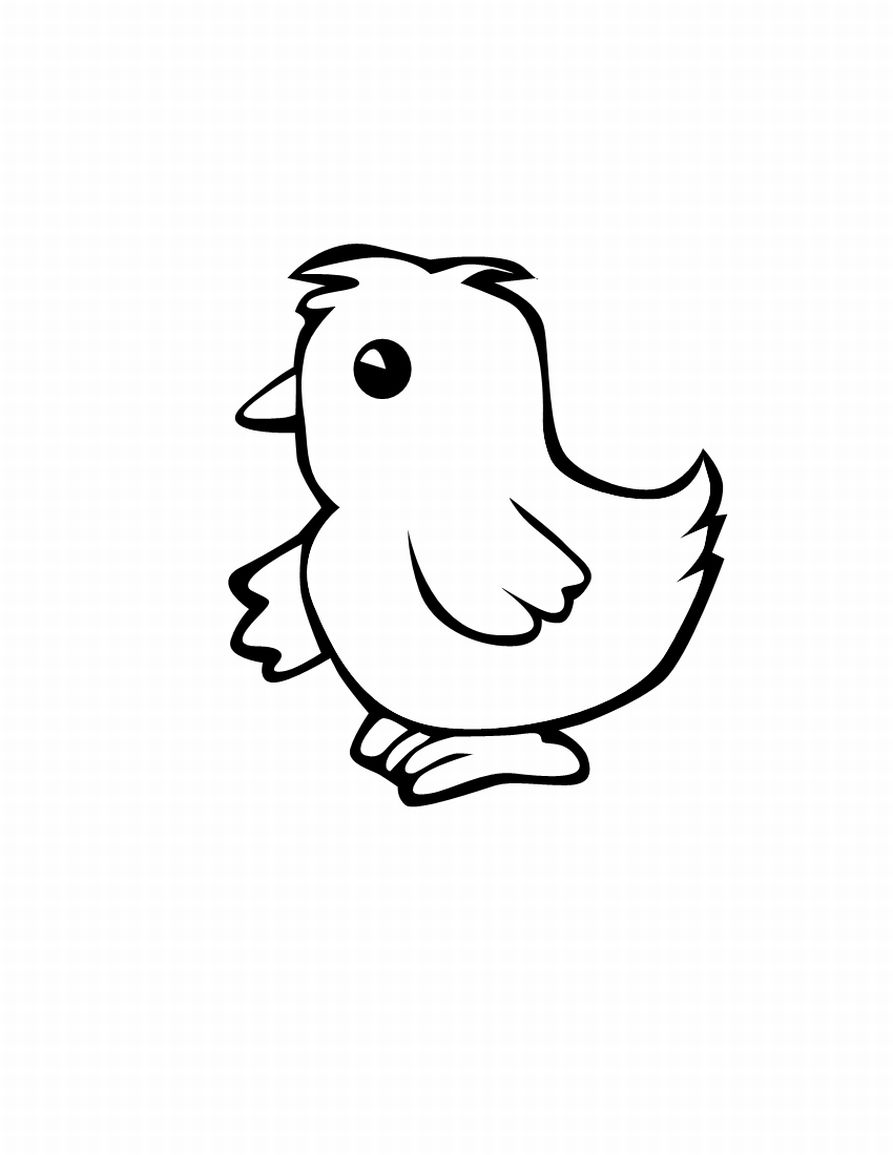 coloring pages of chicken - photo#17