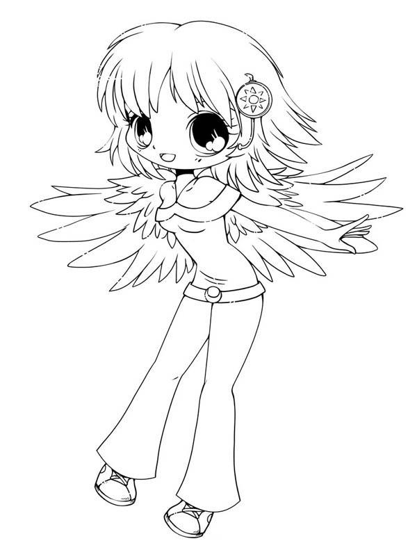 Chibi coloring pages to download
