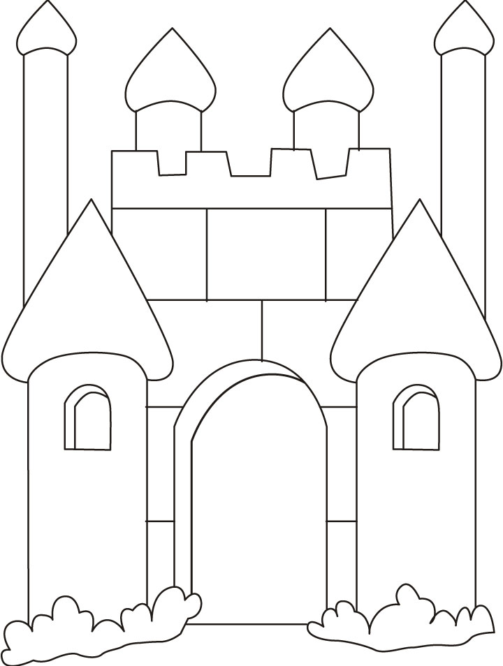 castle coloring pages online - photo#30