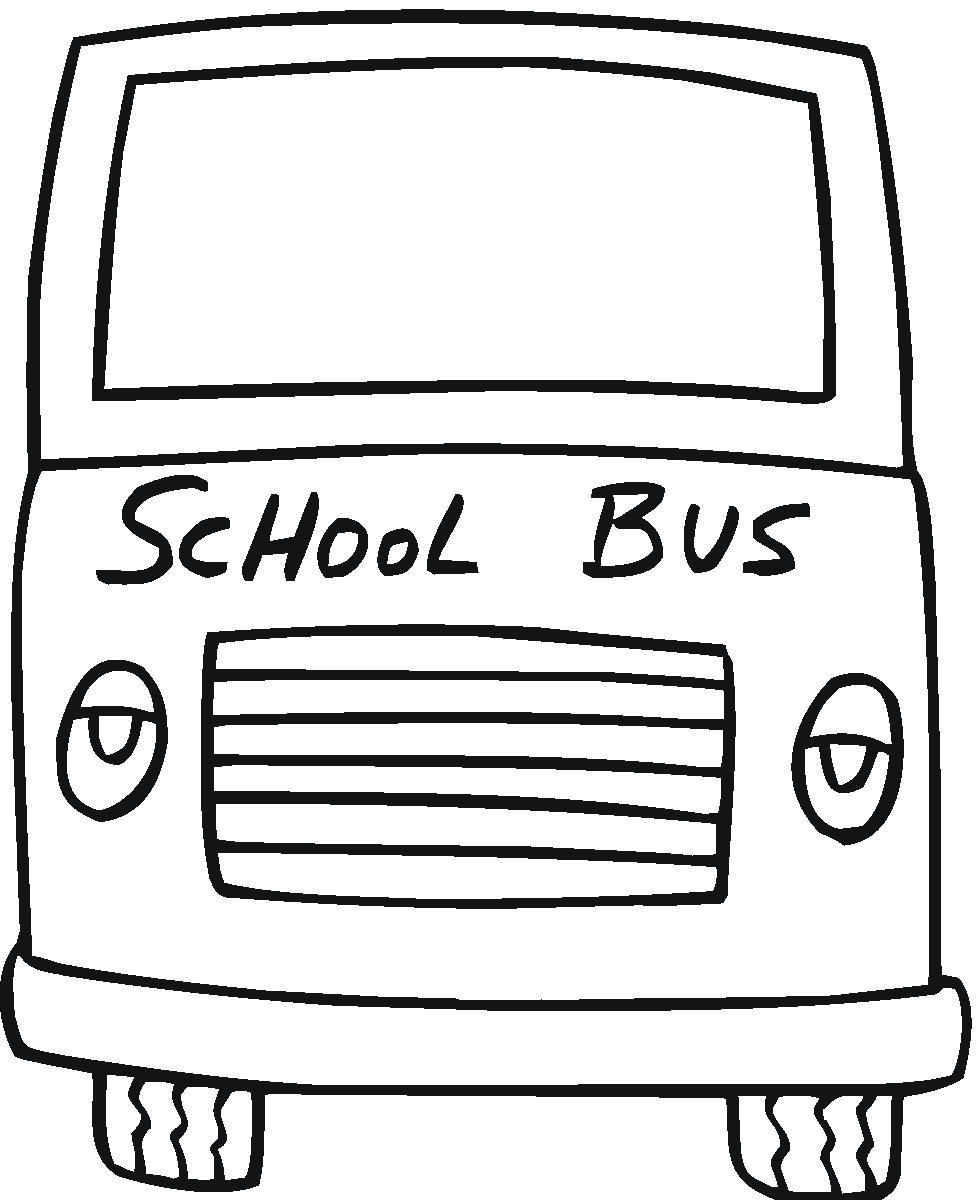 Bus coloring pages to download