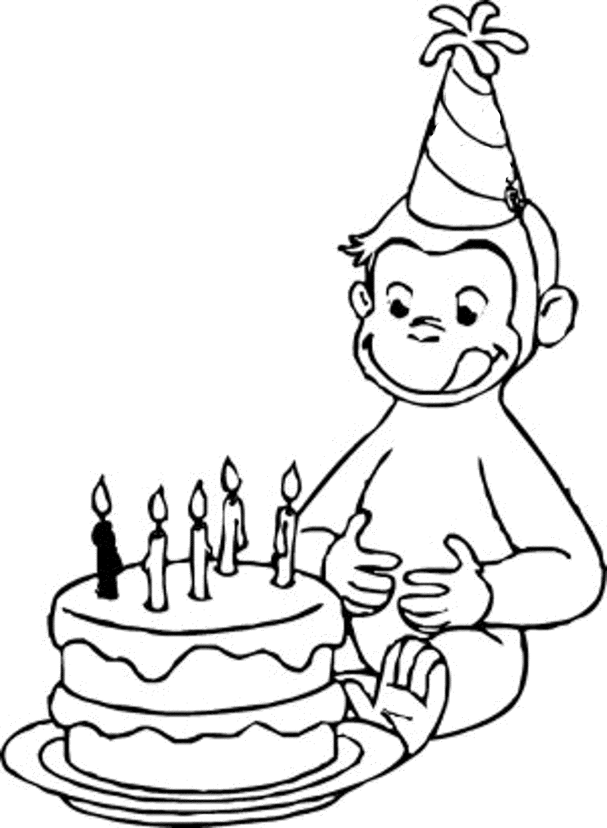 This is an image of Gutsy Curious George Printable Coloring Pages