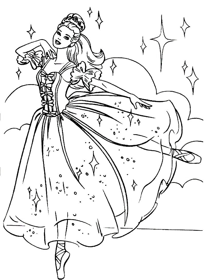 Line Drawing Leap Years And Euclid : Ballet coloring pages to download and print for free