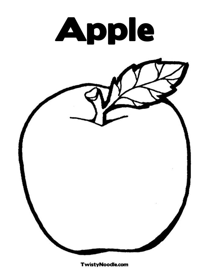 Apple coloring pages to download and print for free