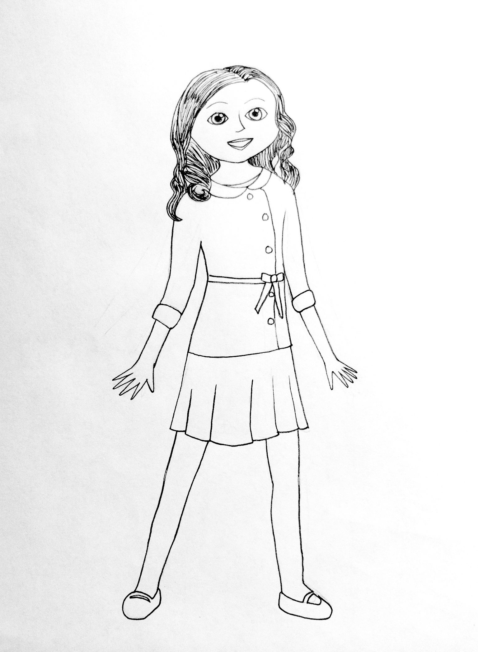 american girl printable coloring pages - photo#21