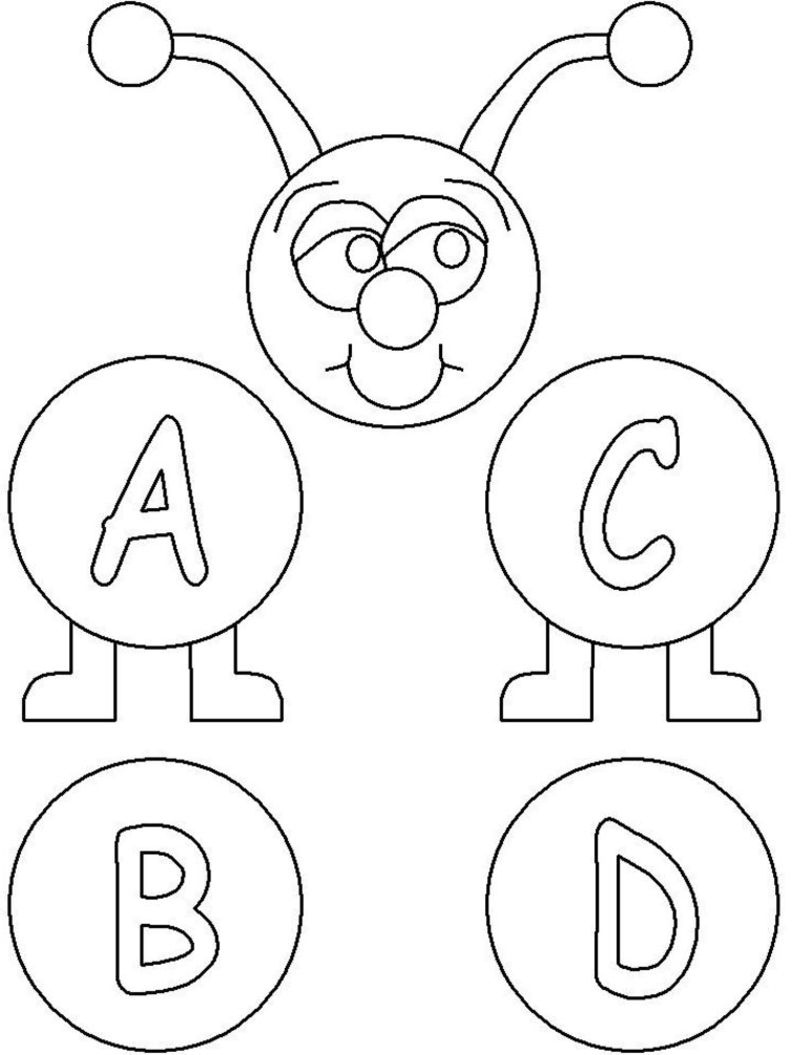 a b cs coloring pages - photo #9