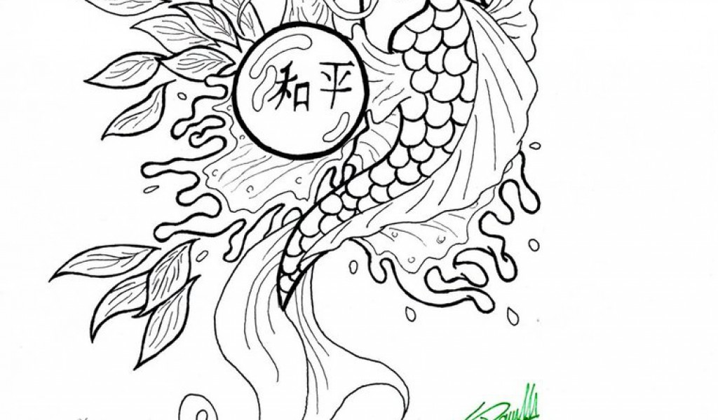 japanese fish coloring pages - photo#39