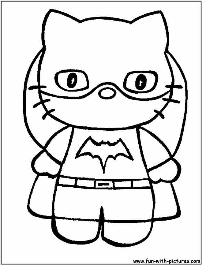 bat girl coloring pages - photo#14