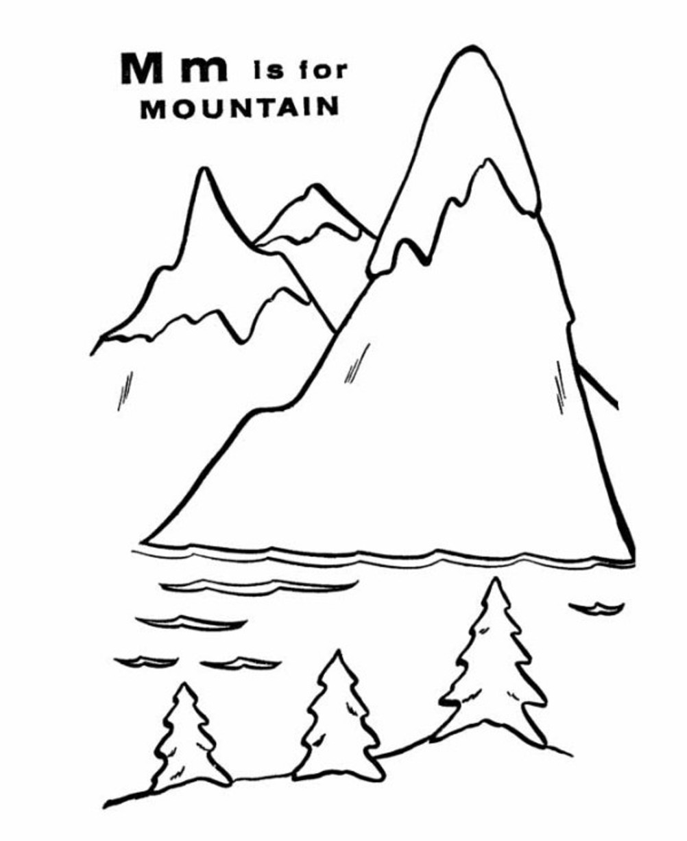 Mountain coloring pages to download