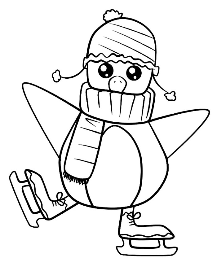 penguin coloring pages online - photo#47