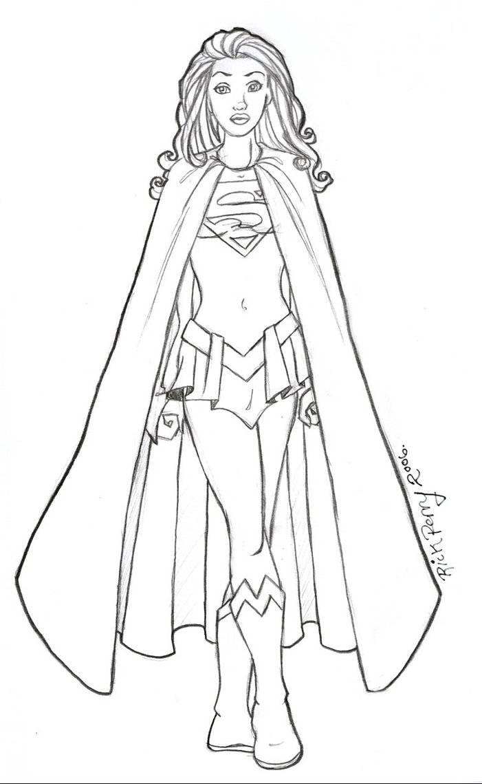 It is an image of Trust Super Girl Coloring Pages