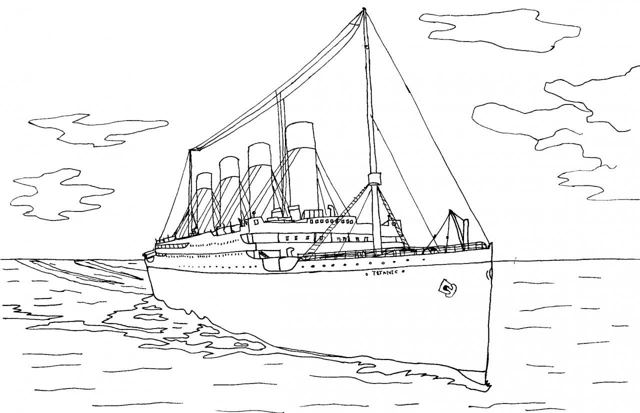 titanic coloring pages for adults | Titanic Coloring Pages Easy Coloring Pages