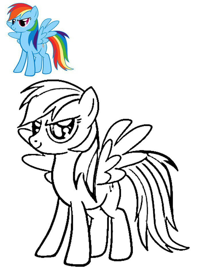 Rainbow Dash coloring pages to