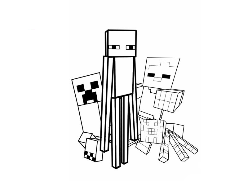 Minecraft coloring pages to download