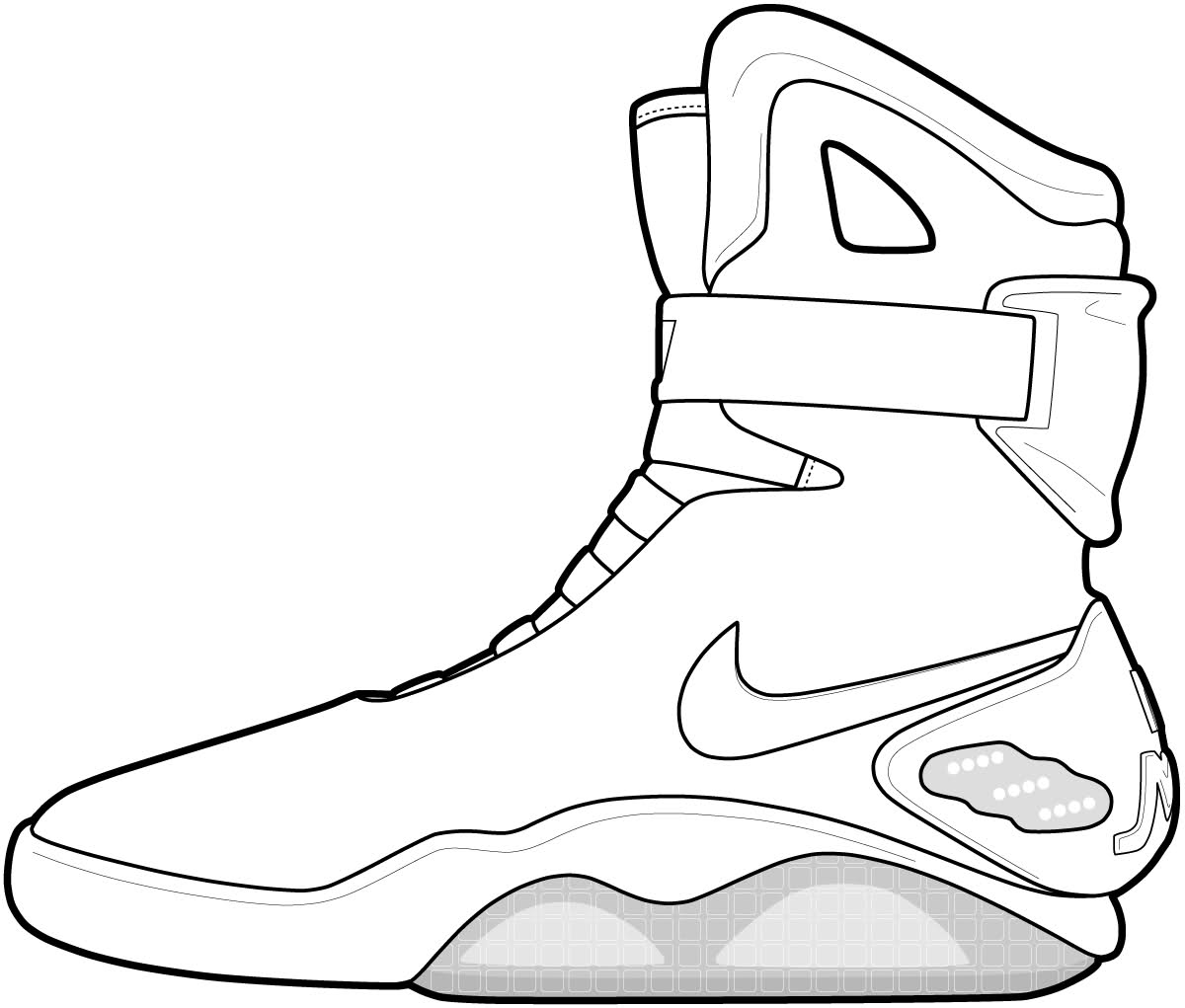 Basketball Shoe Coloring Pages on back to the future car 3