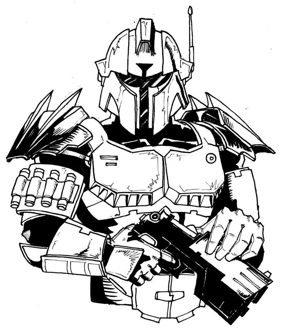 Mandalorian coloring pages download