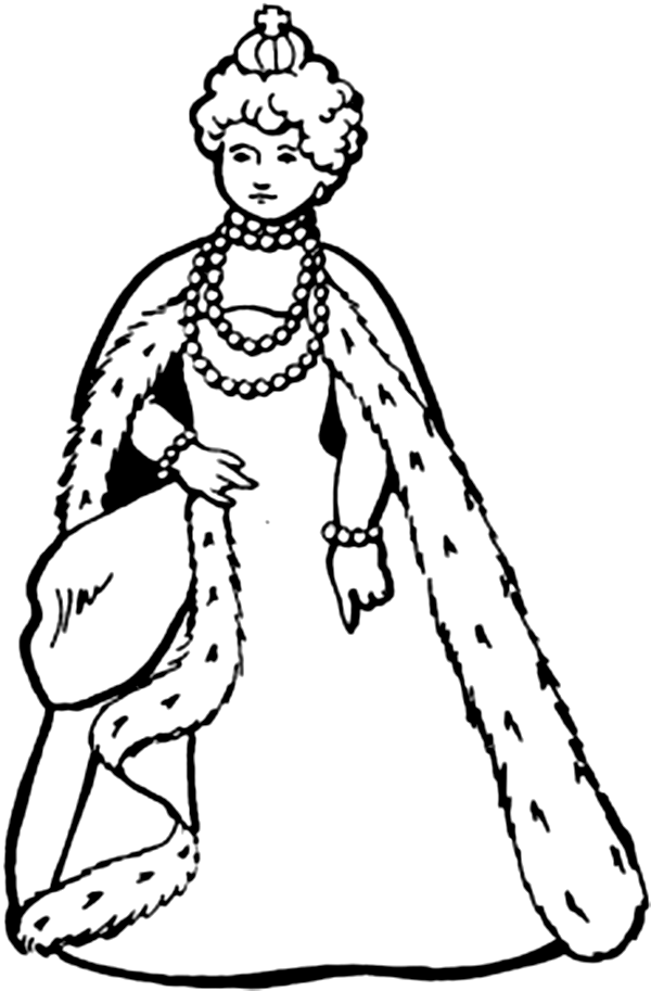 It is a graphic of Exhilarating queen coloring pages