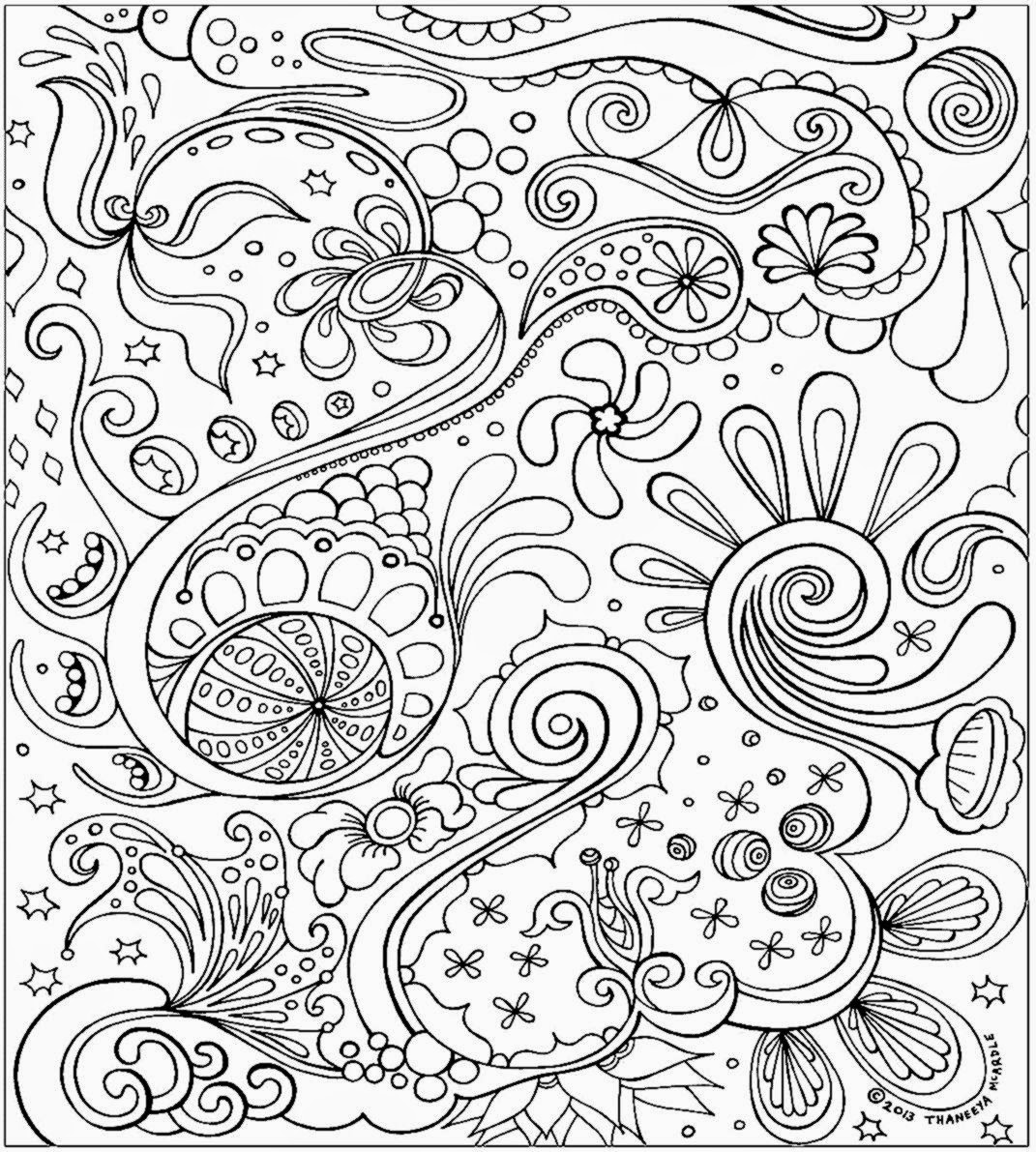 coloring pages for adults printable - stress coloring pages to download and print for free
