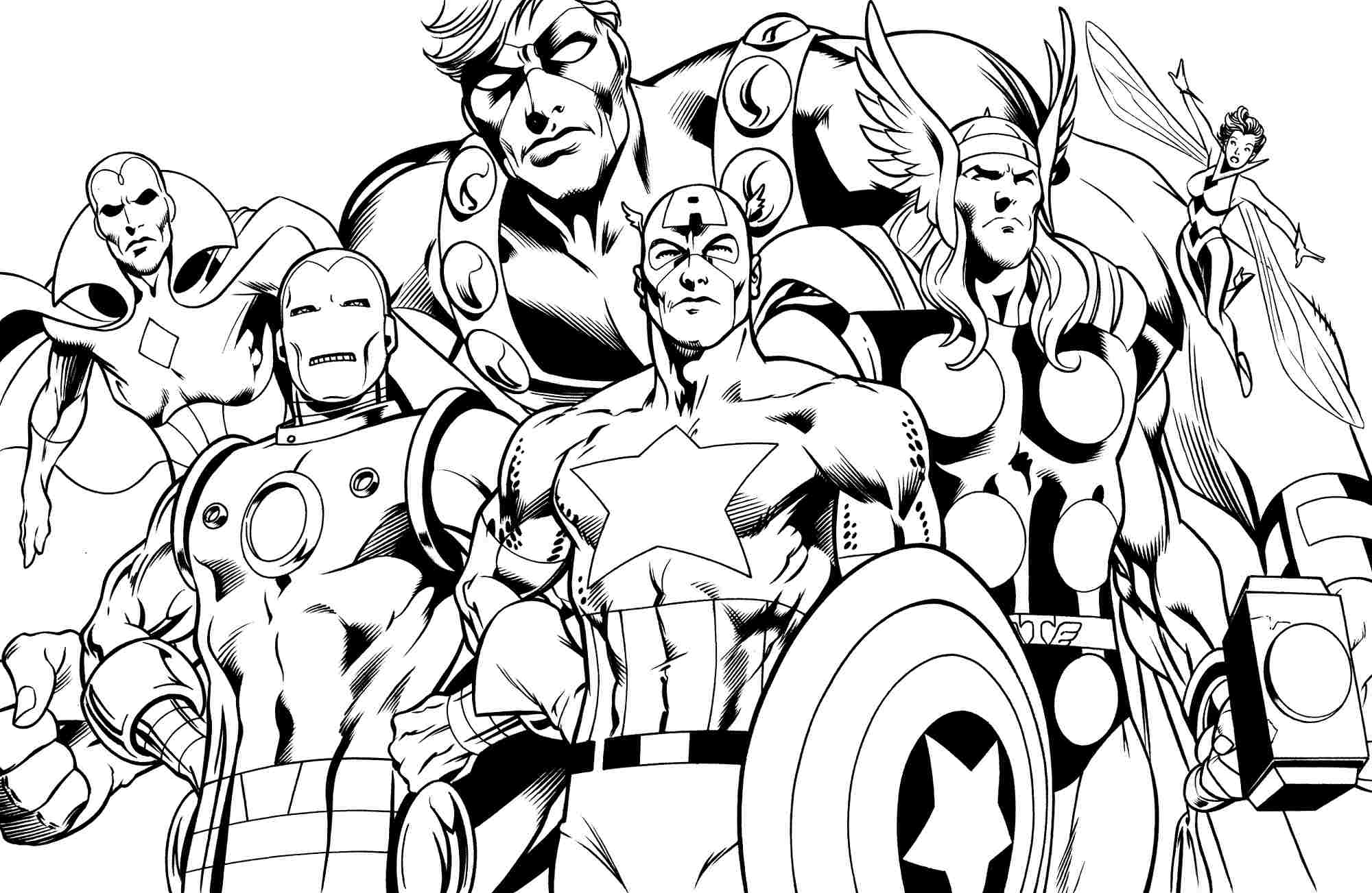 Superheroes coloring pages download and print for free
