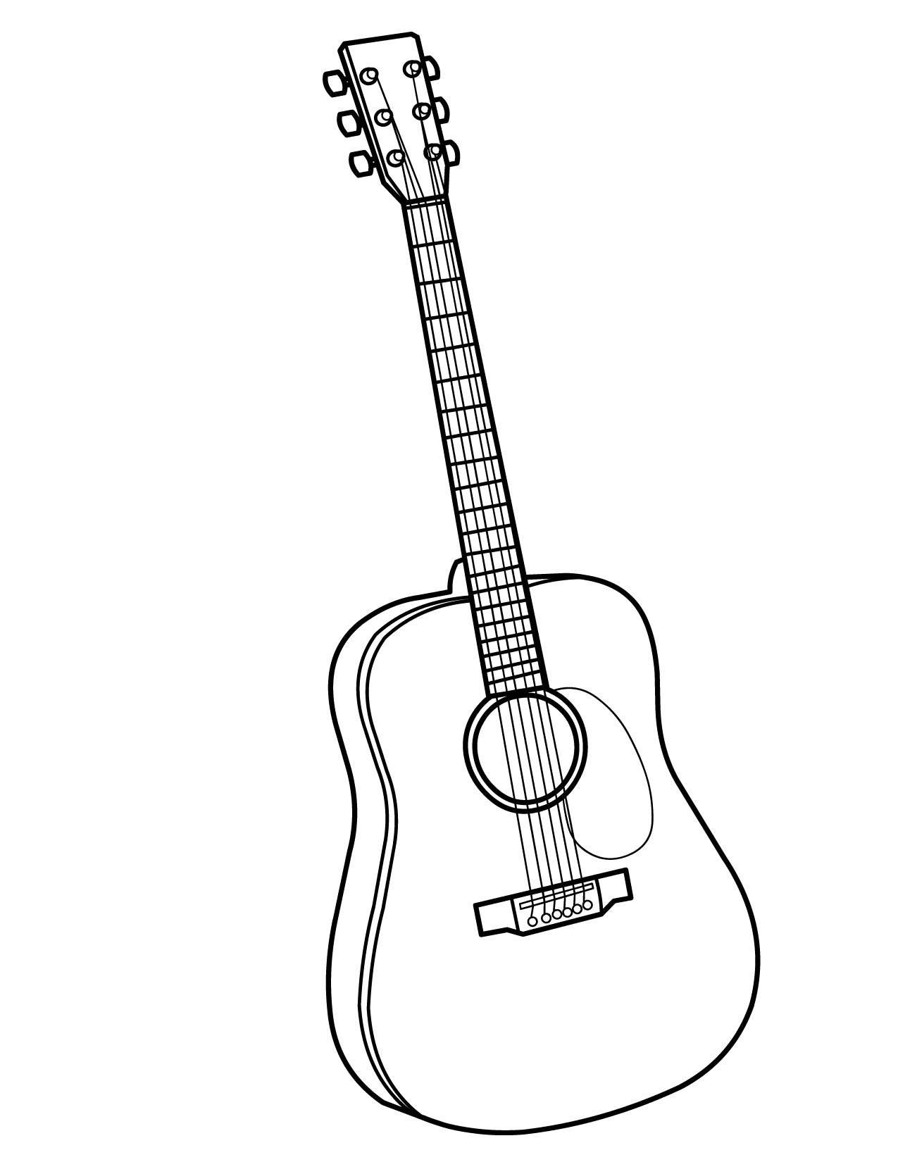 printable coloring pages guitar - photo#2