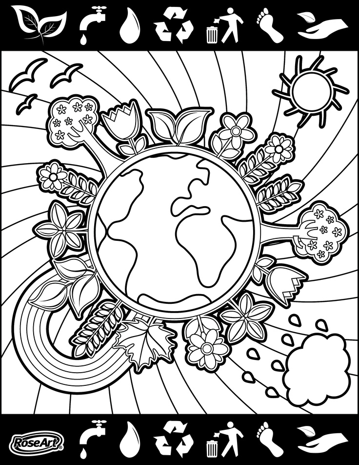 Environment daycoloring pages download