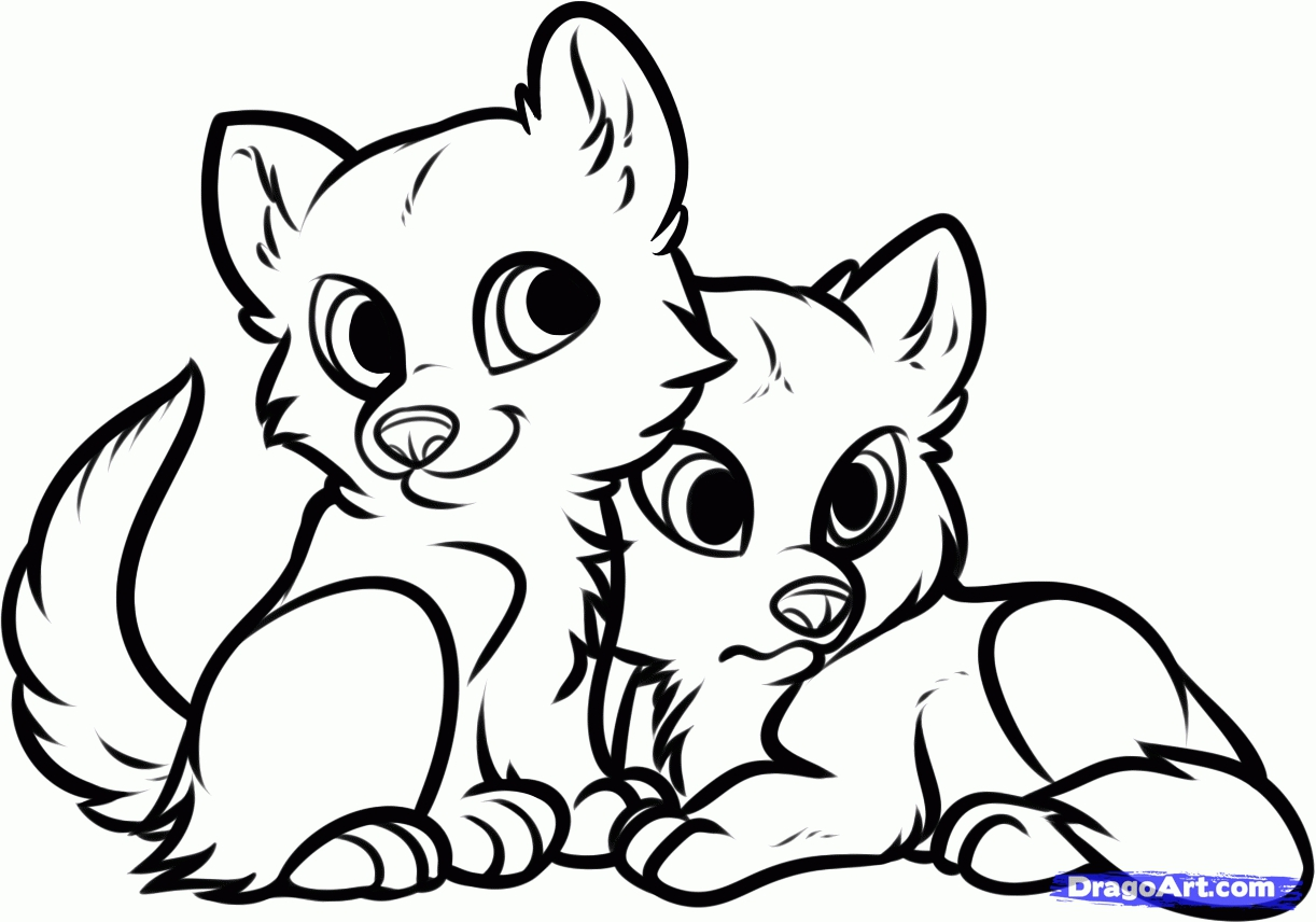 free wolf puppy coloring pages - photo#22