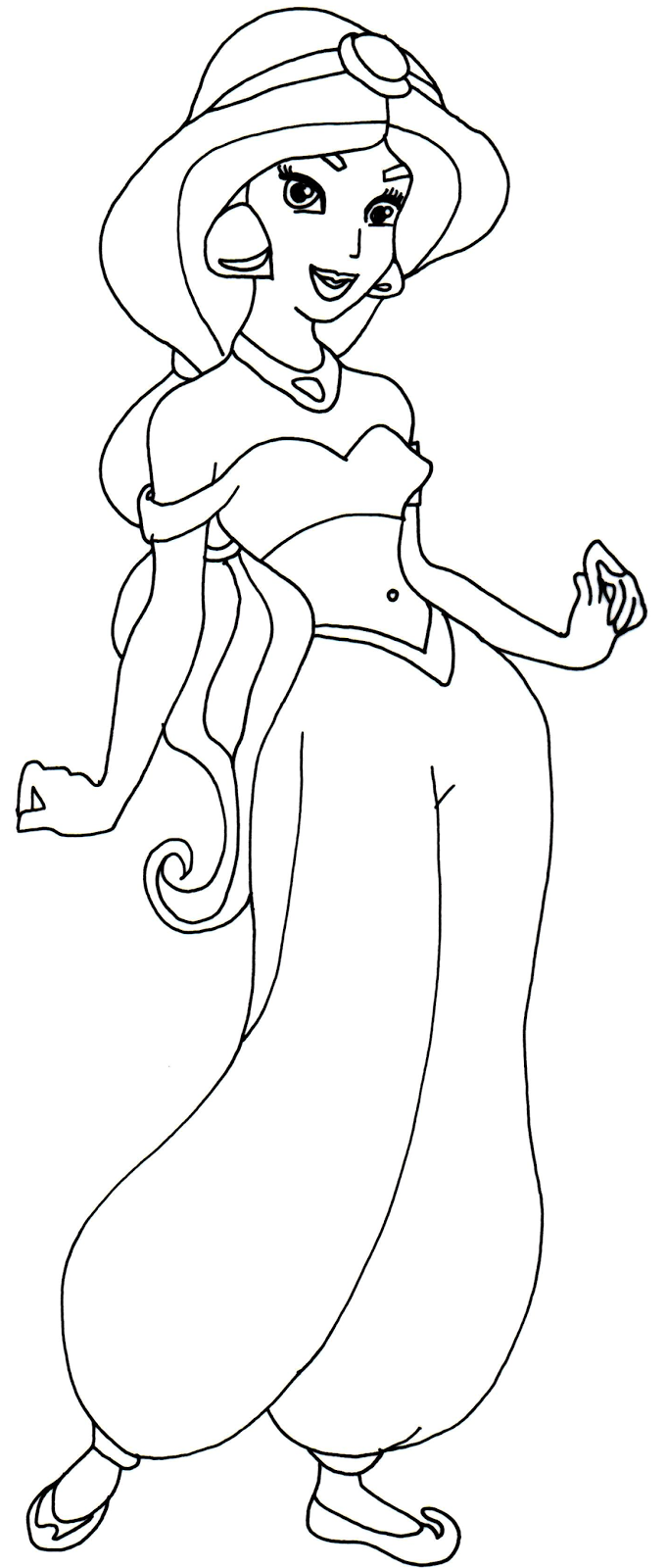 Princess jasmine coloring pages to download and print for free for Jasmine the princess coloring pages