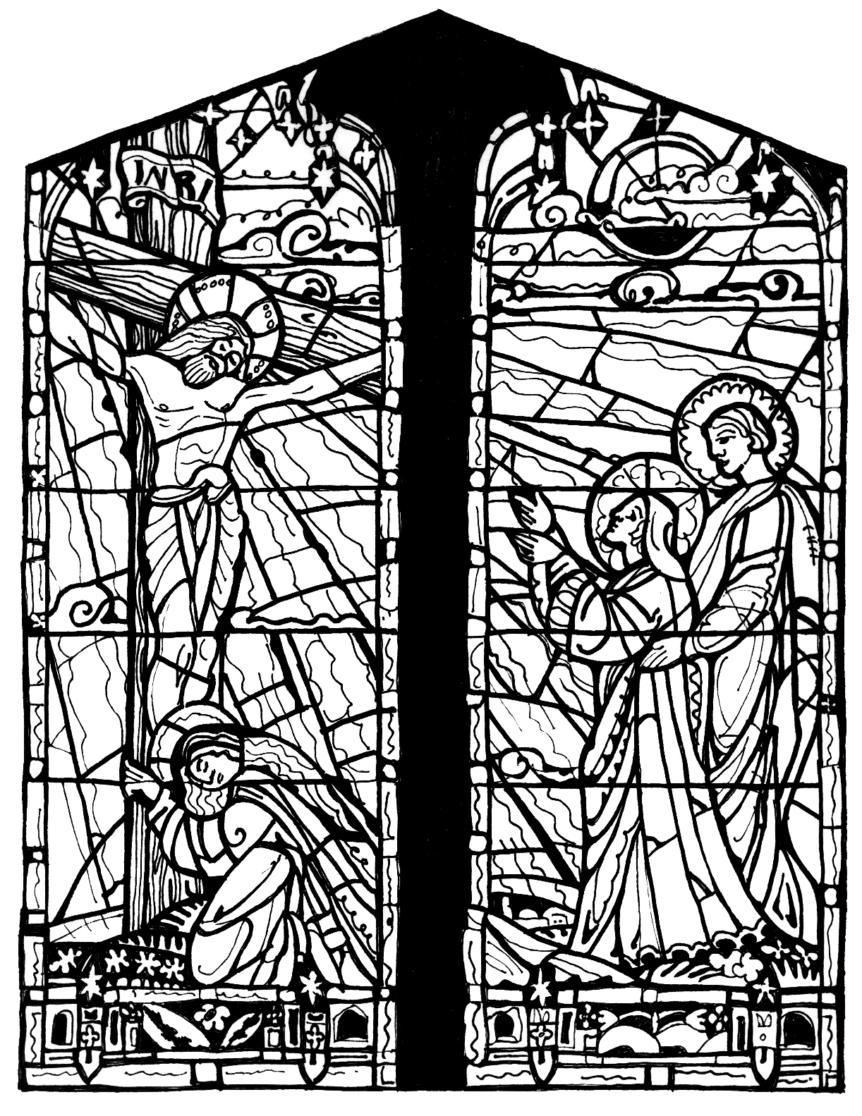 Adult Cute Free Stained Glass Coloring Pages Gallery Images top stained glass coloring pages printable free medieval images
