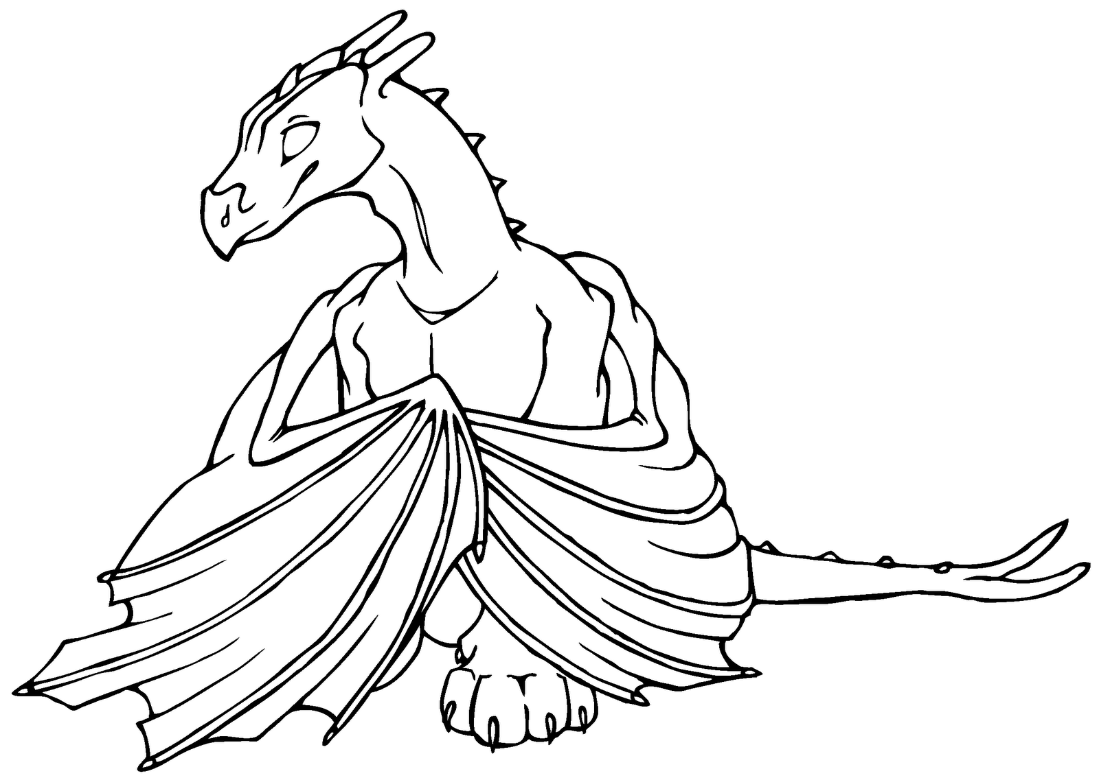 Printable coloring pages dragons - 9 Best Images Of Scary Dragon Coloring Pages Printable