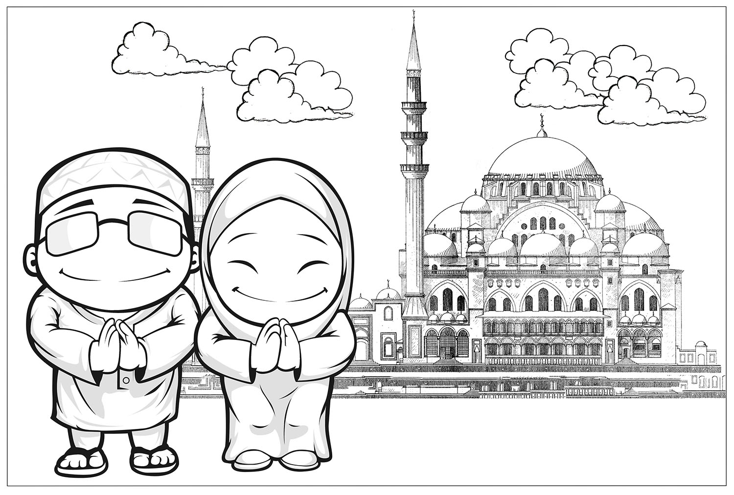 Today Malay Girl Clipart For Coloring