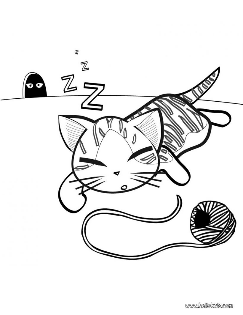 Sleep coloring pages download and