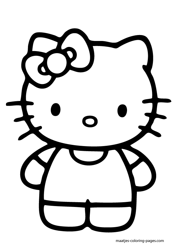 large hello kitty coloring pages - Colouring Pages Of Hello Kitty