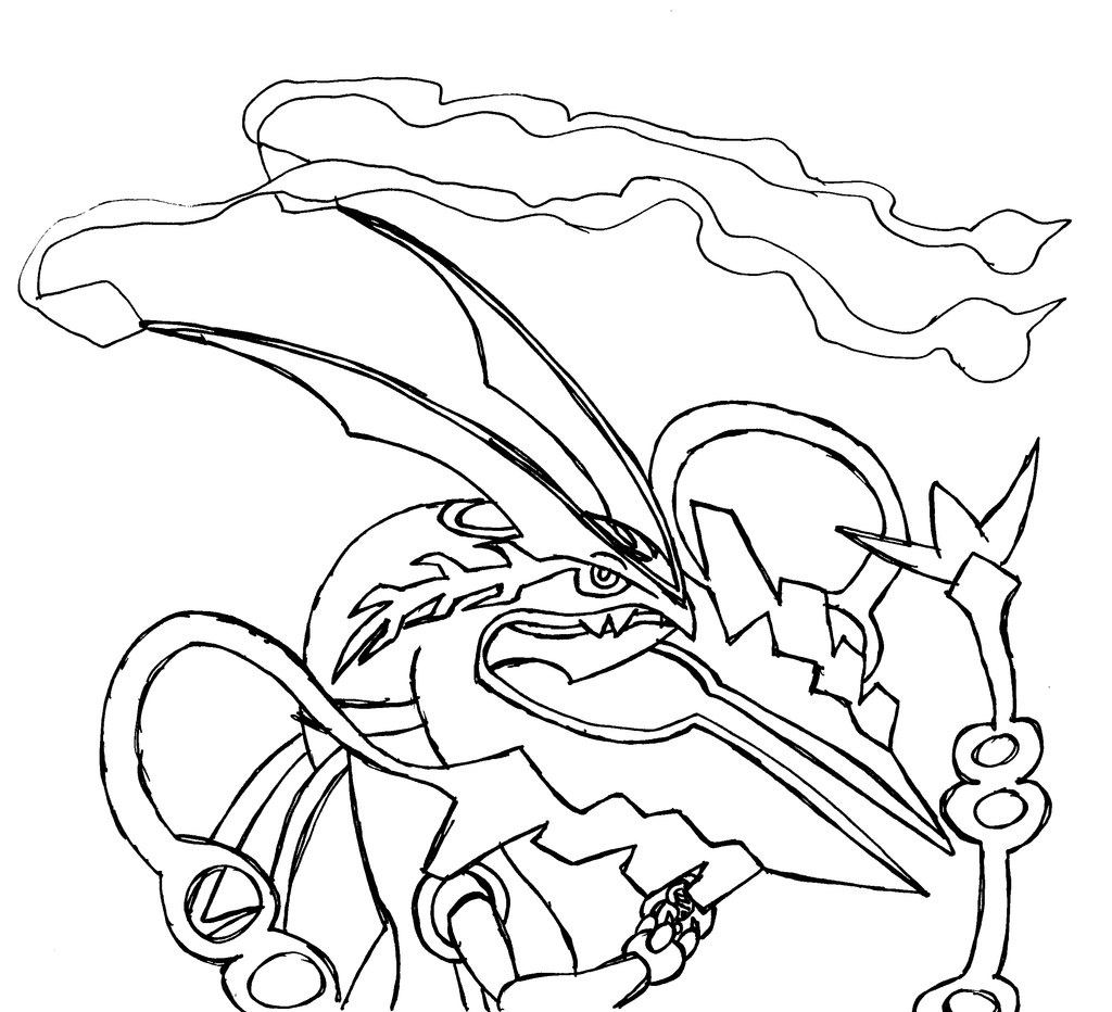 Rayquaza coloring pages download