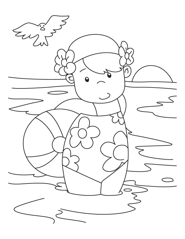 swimming coloring page - swimming safety coloring pages download and print for free