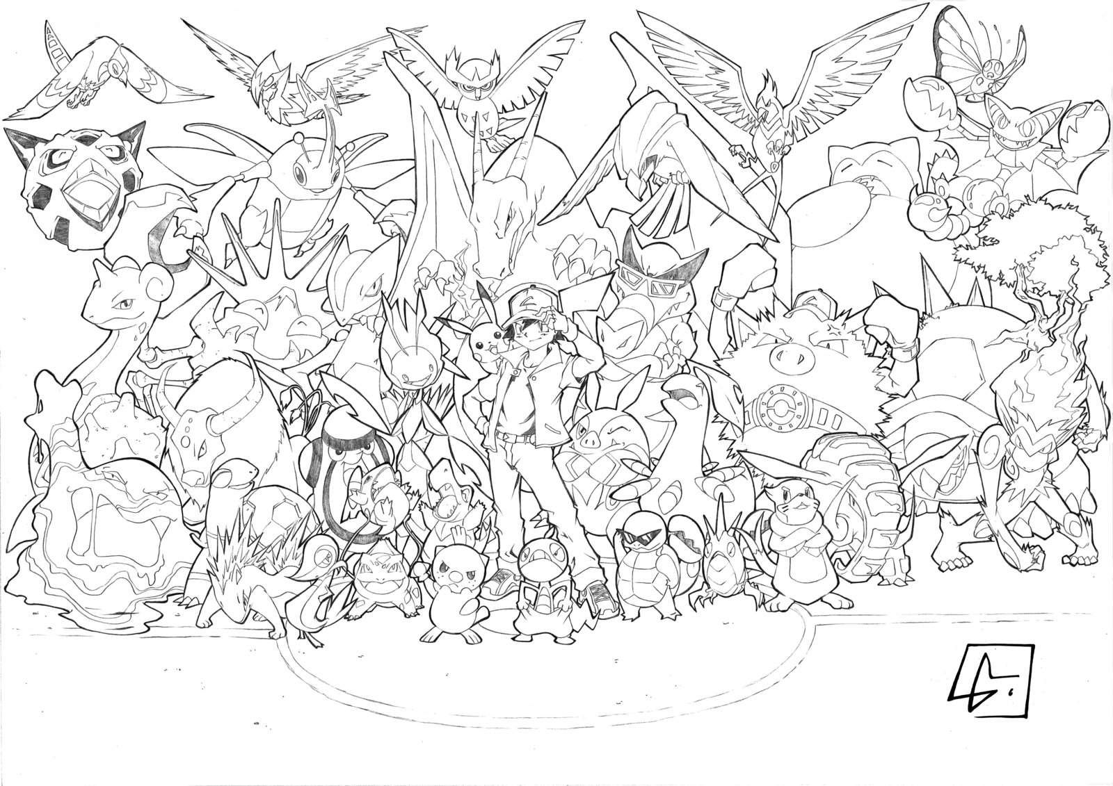 free pokemon christmas coloring pages - photo#33