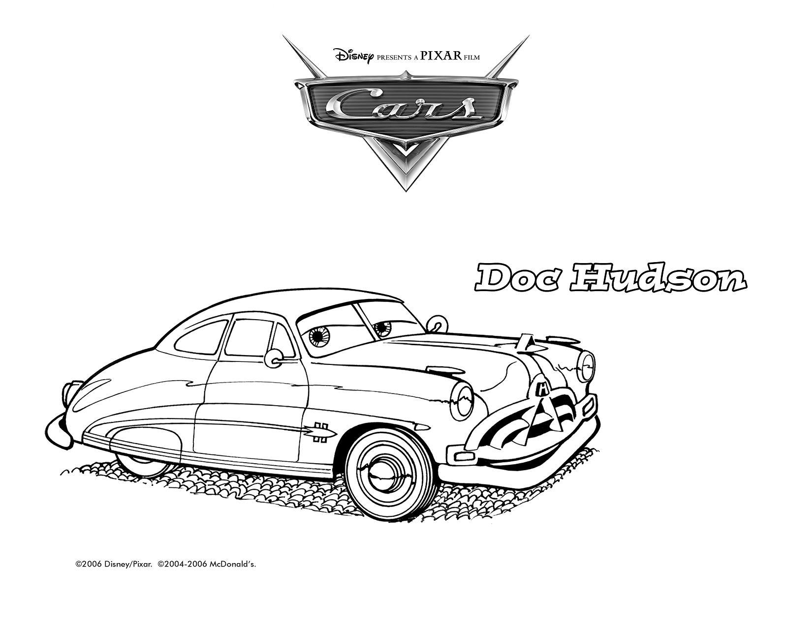Coloriage Cars Doc Hudson.Doc Hudson Coloring Pages Sanfranciscolife