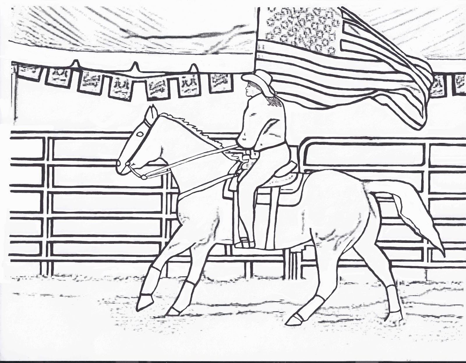 Cowgirls And Horses Coloring Pages Download And Print For Free