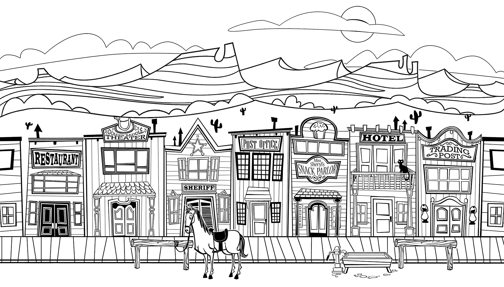 Free printable coloring pages western - Western Coloring Pages