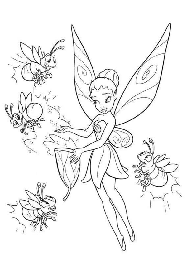 tinkerbell fairies printable coloring pages - photo#45