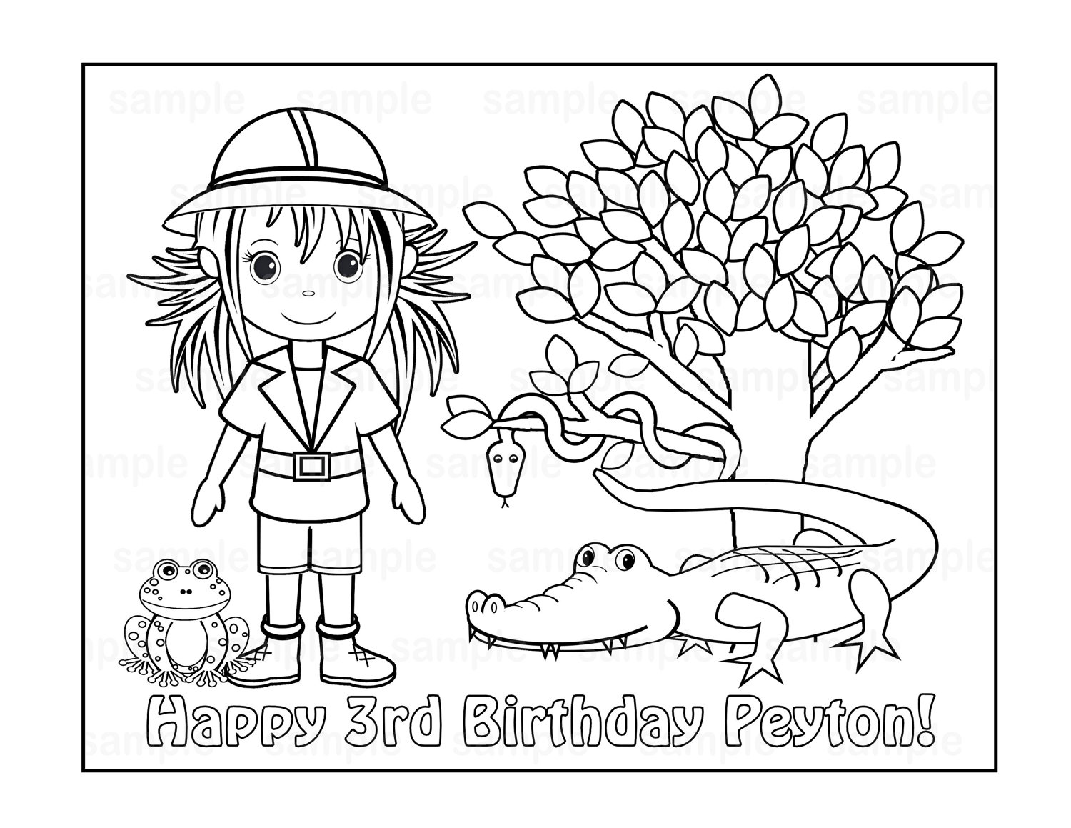free kids safari coloring pages - photo#11
