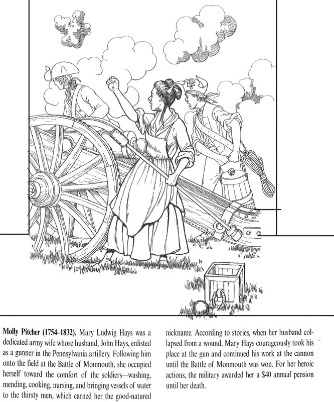 revolutionary war coloring pages to download and print for